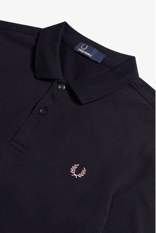 ddd07e6c6 Buy Fred Perry Navy Bold Cuff Pique Polo from Next Italy