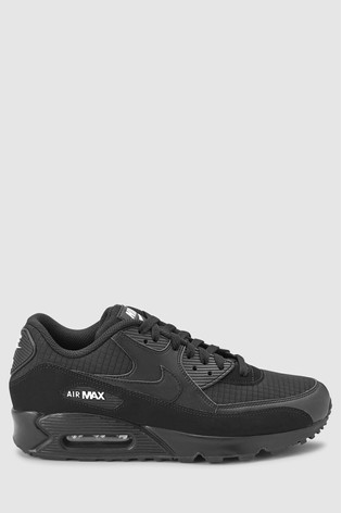 sports shoes 0fbb1 a9a22 Black White NIke Air Max 90 Essential