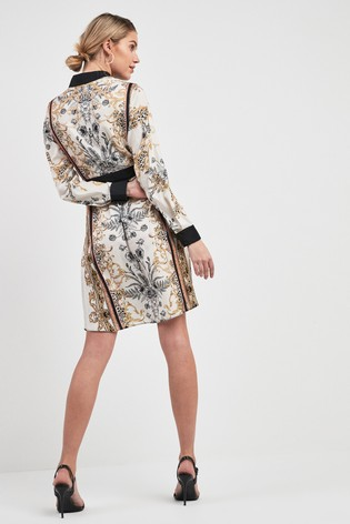 aef48c105eddd8 Buy Printed Belted Shirt Dress from the Next UK online shop