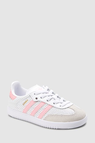 7d93f3e69f7 Buy adidas Originals White Pink Samba OG Infant from the Next UK ...