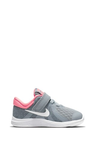 3dbdb4d1a3 Buy Nike Run Grey/Pink Revolution 4 Infant from the Next UK online shop