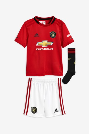 new products 56f8b ba386 adidas Red Manchester United FC 2019/20 Home Mini Kit