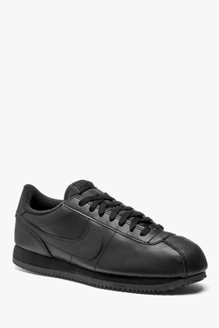 Black suede Nike Air Force 1 '07 trainers with gum Depop