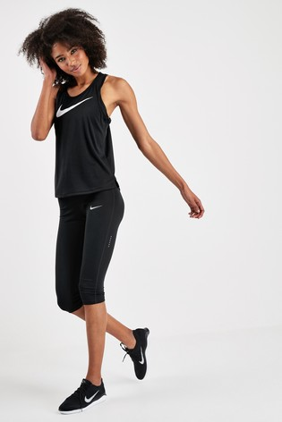 Buy Nike Run Black Swoosh Tank from the Next UK online shop