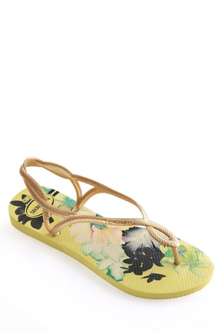 c04ff1b05 Buy Havaianas® Yellow Floral Luna Flip Flop from the Next UK online shop