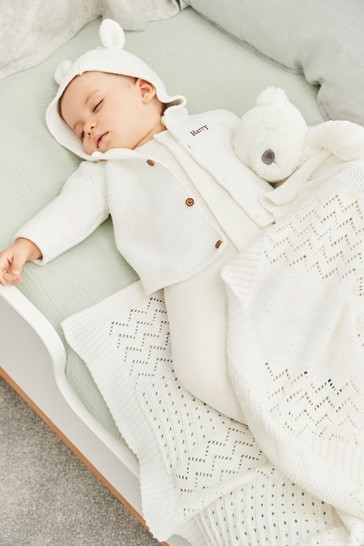 5a073b23663b5 Personalised Knitted Bunny Cardigan