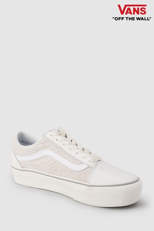 Vans White Snake Old Skool Platform