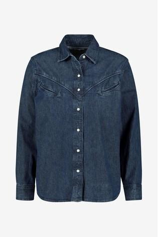 e119f79806 Levis Denim Mid Wash Western Denim Shirt