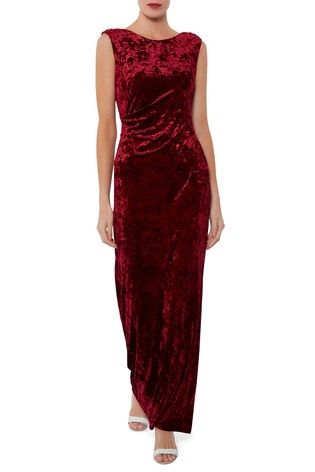 228c5870aed Buy Gina Bacconi Red Anabelle Crushed Velvet Maxi Dress from Next ...