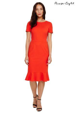 Buy Phase Eight Salsa Red Reagan Peplum Dress From The Next Uk