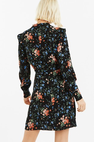 3fbce33d3e9 Buy Oasis Black Frieda Frill Shift Dress from the Next UK online shop