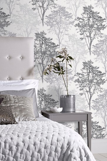 Buy Arthouse Wildwood Mono Leaves Wallpaper From The Next Uk Online Shop