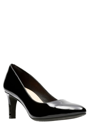 ee8e8aa328 Buy Clarks Black Patent Calla Rose Mid Heel Court from Next Slovakia