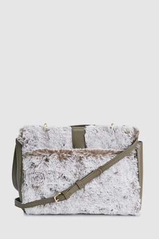 9a7c85d031 Buy Faux Fur Across-Body Bag from Next Ireland
