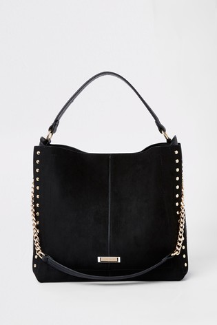 4ac465fd9e Buy River Island Black Stud Side Slouch Bag from the Next UK online shop
