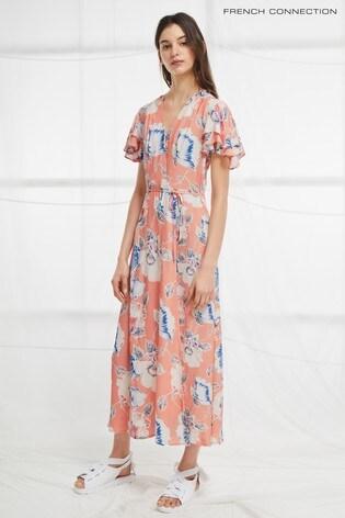 599bb0c2dd3 Buy French Connection Peach Cari Crepe Midi Tea Dress from Next Ireland