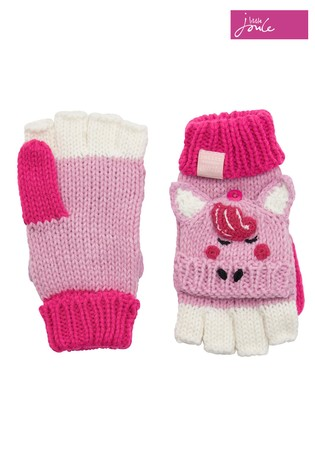 Buy Joules Pink Horse Character Converter Gloves From Next Ireland