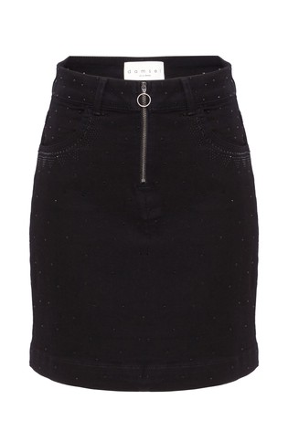 40a6808f52 Buy Damsel In A Dress Black Lainey Stud Detail Denim Skirt from Next ...