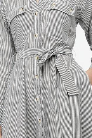 6fe1c3b9c4 Buy Monsoon Ladies Black Bronte Stripe Belted Midi Dress from the ...