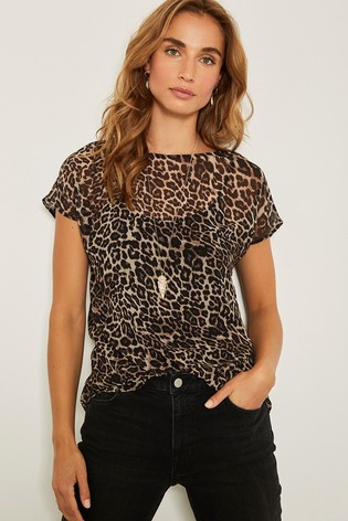 cf8f0576692a Buy Mint Velvet Natural Tessa Print Tee from Next Philippines