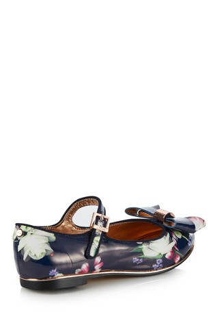 76b05c1656b6e5 Buy baker by Baker Blue Kensington Print Pump from Next Ireland