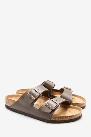 new style febf0 3d185 Birkenstock® Men's Dark Brown Arizona Sandal
