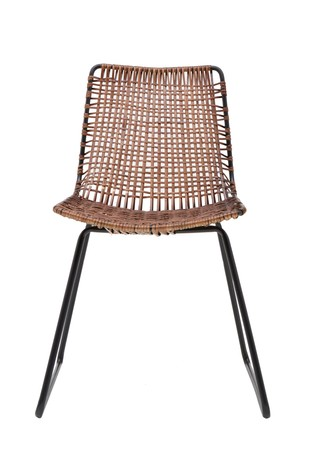 French Connection Rattan Dining Chairs