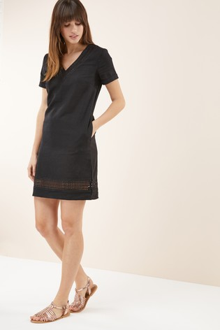 0137c092791 Buy Linen Blend T-Shirt Dress from the Next UK online shop