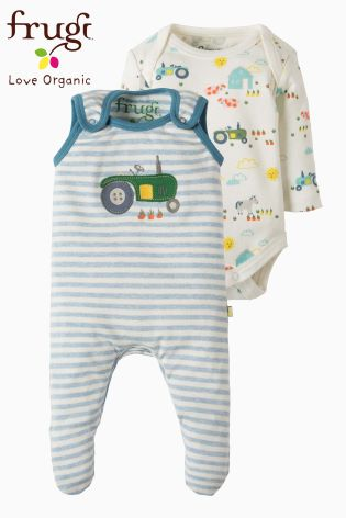80a32a501 Buy Frugi Blue My First Outfit Tractor Babygrow from Next Ireland