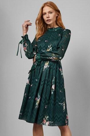 bda1e0f6e0f5 Buy Ted Baker Green Sofiya Elegant Tie Sleeve Midi Dress from the ...