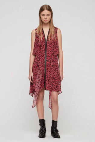 084211b04228 Buy All Saints Pink Leopard Print Jayda Dress from Next South Africa