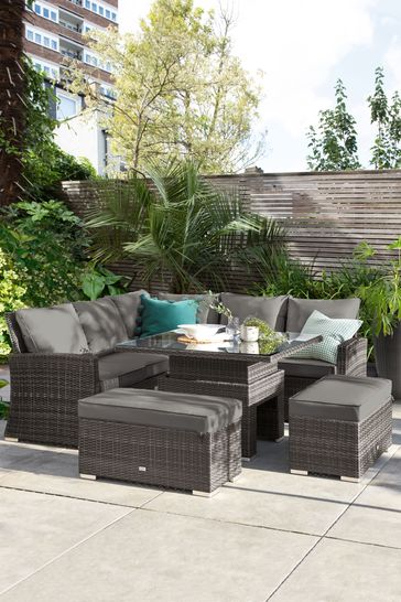 Buy Monaco Slim Living And Dining Table Garden Set From The Next Uk Online Shop