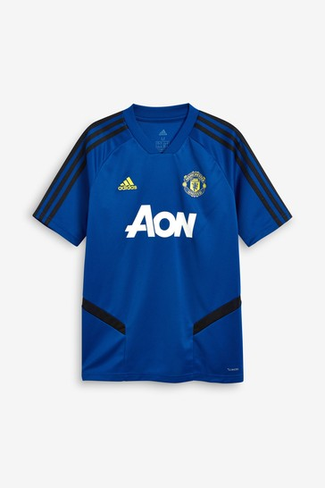 factory authentic a7666 96f22 adidas Blue Manchester United FC Training Jersey Top