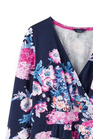 b602f7ac3e Buy Joules Blue 3 4 Sleeve Jude Wrap Dress from the Next UK online shop