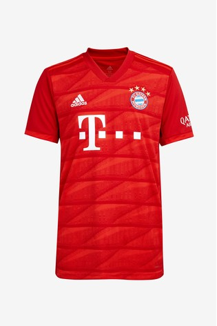 online retailer 92399 2950d adidas Red FC Bayern Munich Home 19/20 Jersey Top