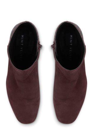 c6d32325455c0 Buy Mint Velvet Burgundy Mia Suede Snake Simple Block Heel Boot from Next  Ireland