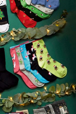 Buy Fun Christmas Conversational Socks Five Pack from Next Slovakia 2a4e2f548d