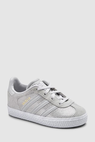 deac59c5443 Buy adidas Originals White/Grey Gazelle Infant from the Next UK ...