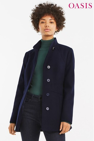 d3716b131973 Buy Oasis Blue Hazel Panel Fitted Coat from Next Ireland