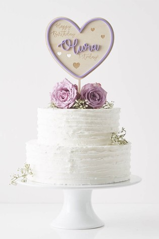 Personalised Purple Birthday Cake Topper By Sophia Victoria Joy