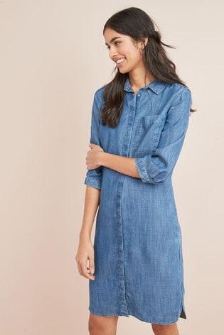 fashion style custom best Buy Tencel® Shirt Dress from Next Malta