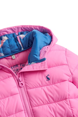 1d56d8e8a Buy Joules Pink Kinnaird Girls Quilted Packable Jacket from the Next ...