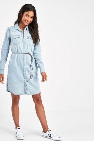 timeless design brand new incredible prices Levi's® Light Wash Western Denim Shirt Dress