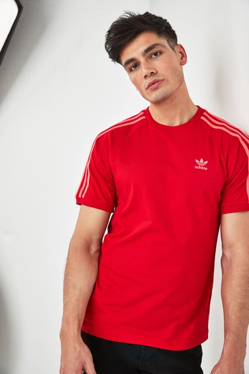 new style of 2019 new cheap quality first adidas Originals 3 Stripe California Tee