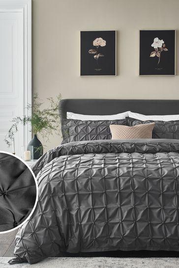 Next Mauve Pleated bed set bedding duvet set