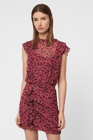 e7ae957a2c67 Buy AllSaints Pink Leopard Print Hali Dress from the Next UK online shop