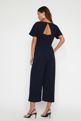 eff5b9466293 Warehouse Blue Slash Neck Jumpsuit  Warehouse Blue Slash Neck Jumpsuit ...