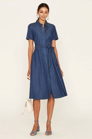 54db8a862c73 Buy Oasis Blue Midi Shirt Dress from Next Ireland