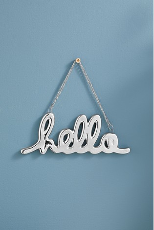 Buy Hanging Hello Word Decoration From The Next Uk Online Shop