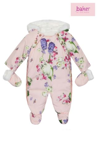 30b296dde Buy baker by Ted Baker Pink All Over Print Snowsuit from Next Ireland